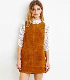 Forever 21 Contemporary Genuine Suede Dress