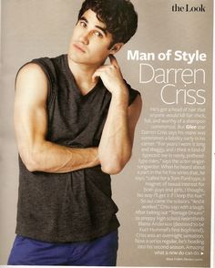 Darren about his hair..<3 I love Blaine, but we all miss the long hair.
