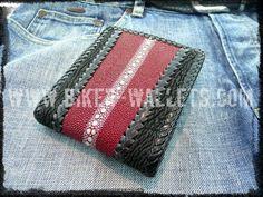 """Shark Highway"" 5"" Custom Handmade Shark Stingray Leather Biker Wallet"