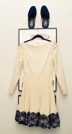Dress, Valentino; Slippers, Charvet