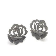 Distressed Rose Studs