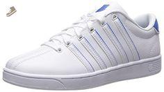 K-Swiss Women's Court Pro II SP Cmf Fashion Sneaker, White/French Blue, 8 M US - K swiss sneakers for women (*Amazon Partner-Link)