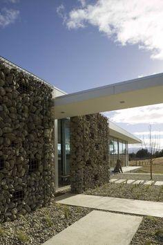 mur gabion et gravier décoratif idées de déco extérieur