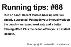 Running Tips: HIIT the beach Starting running or training for a marathon? Tips and help: Get more running tips and training adivce
