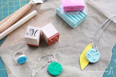 DIY polymer clay jewelry made easy with stamped designs