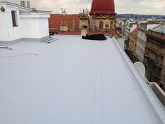 #Rekonstrukce ploché střechy ve Štěpánské ulici v Praze.