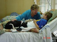 Have a Therapy dog and visit in hospitals