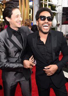 Pin for Later: Les Moments les Plus Mignons et les Plus Random des SAG Awards Adrien Brody et Lenny Kravitz