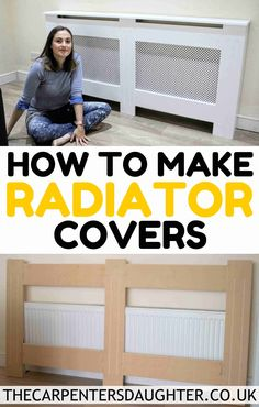 A step by step on how to make an MDF radiator cover easily. It's great for awkward radiators you can't find a cover for and it's easily adaptable free plan. Radiator Heater Covers, Modern Radiator Cover, Kitchen Radiator, Router Plate, Painted Radiator, Wood Drill Bits, Simple Living Room, Living Rooms, Cover