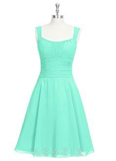 13742ae436fd AZAZIE HANNAH Mint Green Bridesmaid Dresses, Azazie Bridesmaid Dresses,  Knee Length Bridesmaid Dresses,