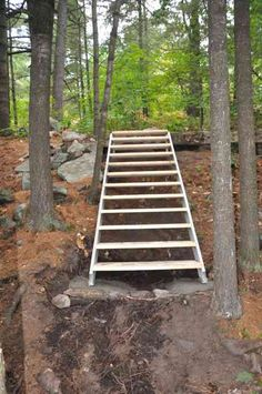 Prefab Outdoor Steps Scottideas Co Premade Outdoor Stairs Elitedentalcare Co Mobile Home Steps Diy. Wood Stairs, Stair Railing, Stairs For Mobile Home, Steep Gardens, Outside Steps, Stairs Stringer, Landscape Stairs, Restaurant Exterior, Gardens