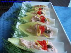 Salmon Mousse in Belgian Endive Boats