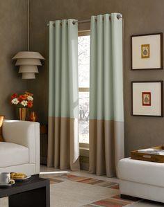 Kendall Color Block Grommet Curtain Panel / Curtainworks.com