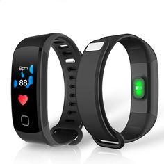 HUACP R8C Smart Band Kontinuerlig Hjertefrekvens Farve Skærm Vandtæt USB Charge Aktivitet Tracker Bluetooth Smart Armbånd For IOS