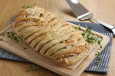 You wouldn't believe how easy this fancy-looking cheese and onion plait is to make - serve it up at Christmas and impress your family!