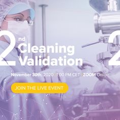 Starting at 1:00 pm CET, we are going to be streaming exclusively for our attendees, introducing a topic with an increasing amount of attention from industry regulators and manufacturers with an emphasis on understanding the best practices for an effective and most efficient cleaning validation program. Process Engineering, Chemical Engineering, Zoom Online, Novo Nordisk, University College London, Material Science, Lean Six Sigma, Microbiology, Biotechnology