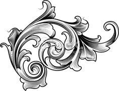 Single Victorian Scroll Royalty Free Stock Vector Art Illustration