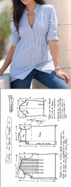 Шитье ✂ Выкройки.Блузка