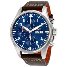 IWC Pilot Midnight Automatic Chronograph Blue Dial Men's Watch IW377714
