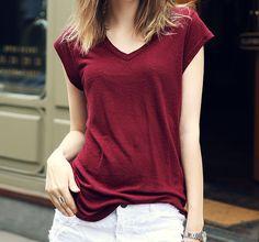 Wine color t-shirt