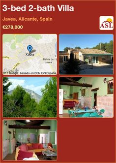 3-bed 2-bath Villa in Javea, Alicante, Spain ►€278,000 #PropertyForSaleInSpain