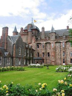 Thirlestane Castle *༺✿* near Lauder in the Borders of Scotland. Thirlestane Castle, originating in the 13th century, is one of the oldest and finest castles in Scotland.