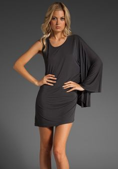 The sleeve! This simple dress could be styled different ways.