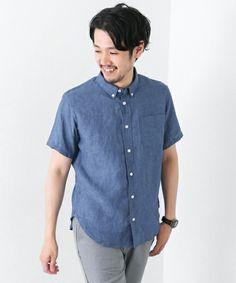 URBAN RESEARCH DOORS MENS(アーバンリサーチドアーズメンズ)のDOORS Linen SHORT-SLEEVE Shirts(シャツ/ブラウス)|ブルー