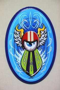 Boo pinstriping Rat Fink, Pinstripe Art, Pinstriping Designs, Desenho Tattoo, Paint Line, Garage Art, Paint Stripes, Airbrush Art, Lowbrow Art