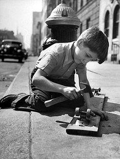Kid Building Skateboard