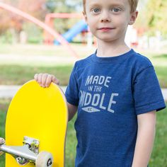 Made in the Middle youth tee by Made in the Middle Kids Logo, The Middle, Youth, Tees, Sports, T Shirt, Women, Fashion, Hs Sports