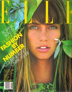 This was one of my favorite magazine covers from the 1980s.  I remember the door to my room was covered with fashion magazine covers.  Model: Roberta Chirko.