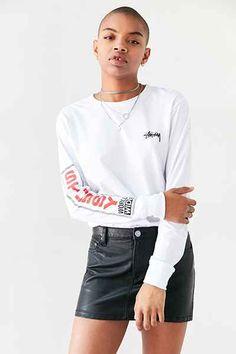 T-shirt à manches longues World-Wide Stussy 54$