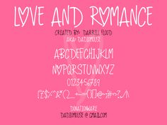 Love And Romance Font | dafont.com