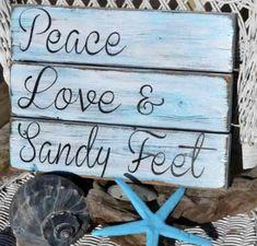 Peace, love & sandy feet.#beachquotes