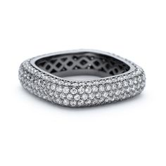 Square Stacking Ring thick black rhodium finish over sterling silver crystal ring. Pave' set white zirconia around square shaped stacking metal ring. Zirconia Rings, Square Rings, Black Square, Black Rhodium, Black Rings, Stacking Rings, Sterling Silver Rings, Constellations, Sparkles