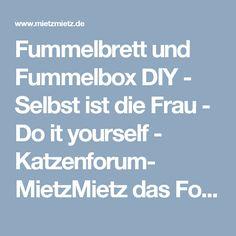 Fummelbrett und Fummelbox DIY - Selbst ist die Frau  - Do it yourself - Katzenforum- MietzMietz das Forum über Katzen.