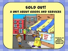 Servicetown was a beautiful little town, until a broken bridge caused havoc all over town! Use this four page story, worksheets and game to teach your students all about goods and services. Students even get a chance to look for goods and services in their favorite fairy tales!  $
