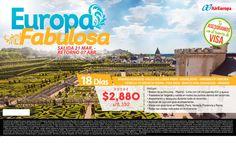 Europa... 18 días por las mejores ciudades.. desde $2880, espacios limitados saliendo el 21 de Marzo al 7 de Abril, escribenos para más información a gerencia@alereperutravel.com
