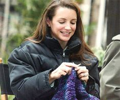 Charlotte York knitting!  I'm not the only young old woman out there.