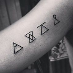 What does glyph tattoo mean? We have glyph tattoo ideas, designs, symbolism and we explain the meaning behind the tattoo. Little Tattoos, Love Tattoos, Tattoo You, Beautiful Tattoos, Gun Tattoos, White Tattoos, Ankle Tattoos, Arrow Tattoos, Tattos