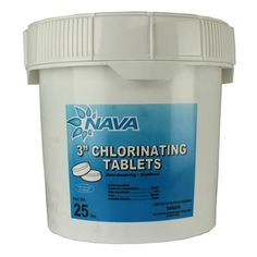 Nava 3-Inch Pool/Spa Stabilized Chlorinating Tablets, 25 Pounds | 12000294-25LB for Sale