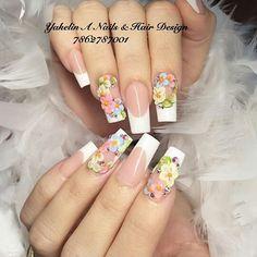 Fancy Nails, Cute Nails, Pretty Nails, Fabulous Nails, Gorgeous Nails, 3d Flower Nails, Cute Summer Nails, Fall Nail Art Designs, 3d Nails