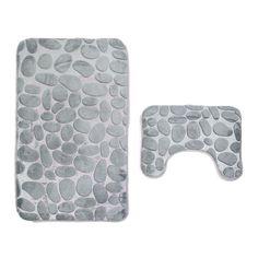 Transer Coral Velvet Soft Non Slip Bathroom Shower Mat Toilet Floor Rug Carpet Pad (Gray) Non Slip Flooring, Soft Flooring, Bathroom Mat Sets, Bath Mat Sets, Bathroom Bath, Bathroom Rugs, Carpet Mat, Rugs On Carpet