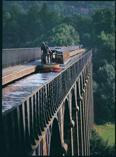 On this day 26th November, 1864 the official opening of Thomas Telford's Pontcysyllte Aqueduct that carries the Llangollen Canal over the valley of the River Dee in Wales. It is the longest and highest aqueduct in Britain, a Grade I listed building and a World Heritage site