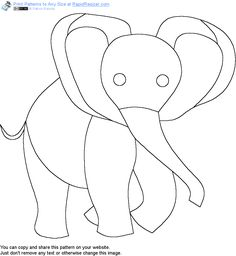 Free Baby Elephant pattern. Get it and more free designs at http://Online.RapidResizer.com/patterns.php