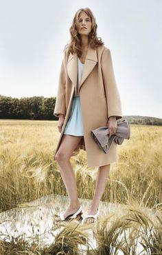 Chloe Look 02 - Crepe de chine tank top Cady short Luxury wool coat