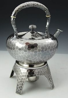 Dominick and Haff kettle on stand circa 1881 hand hammered