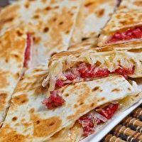 Reuben Quesadillas by Closet Cooking