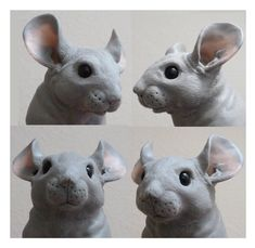 Chinchilla Sculpture WIP First Chinchilla by philosophyfox on DeviantArt Toy Art, Chinchilla, Paperclay, Clay Animals, Polymer Clay Projects, Sculpture Clay, Animal Sculptures, Art Plastique, Clay Creations
